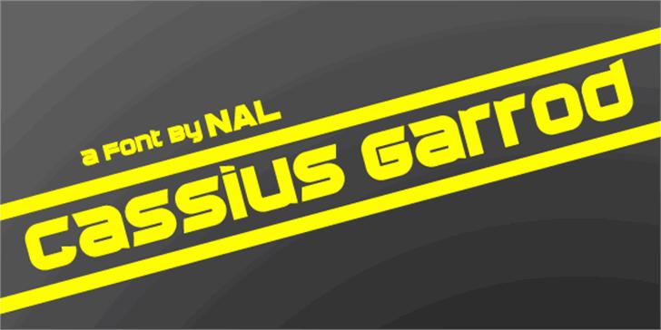 Cassius Garrod Font design screenshot