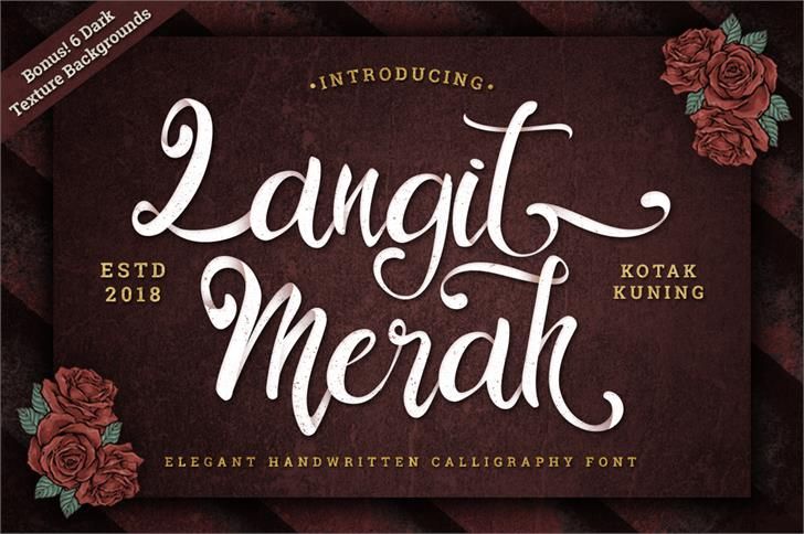 Langit Merah Font handwriting text