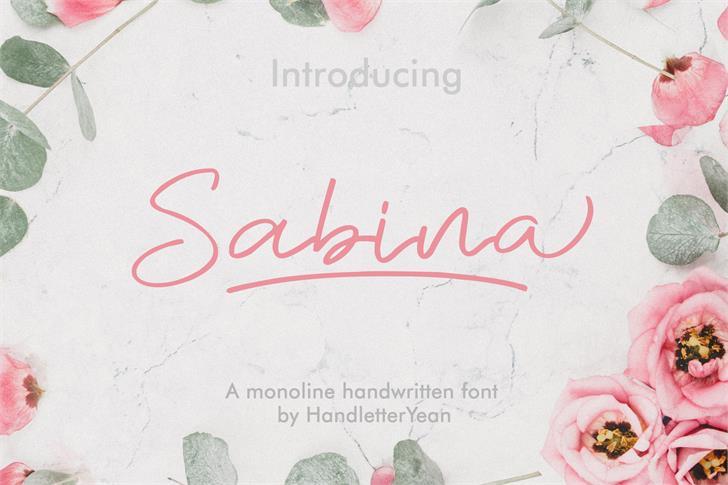 Sabina Font handwriting text
