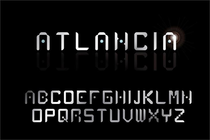 Atlancia Font text screenshot