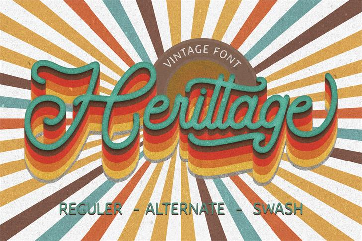 Herittage Font poster