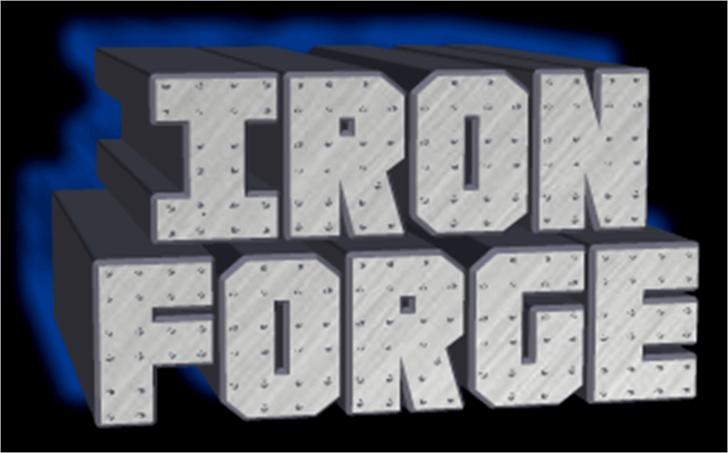 Iron Forge Font screenshot keyboard