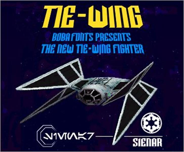 TIE-Wing Font aircraft text