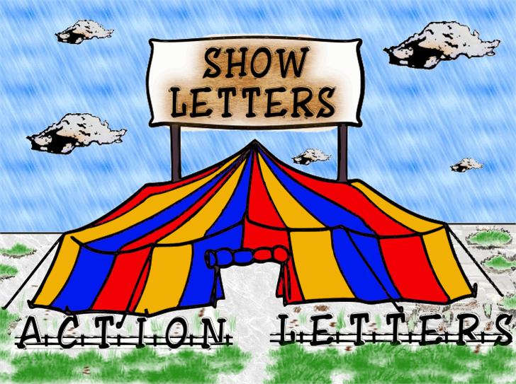 ShowLetters font by fontden
