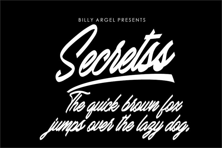Secretss Personal Use Font design typography