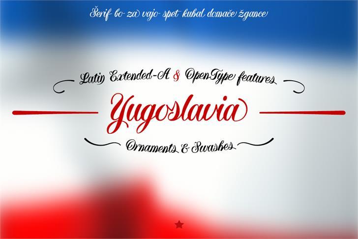 Yugoslavia font by deFharo