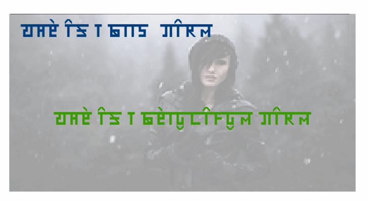 HINDI NIRVI Font screenshot human face