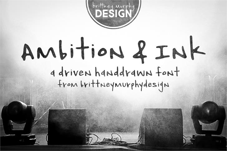 Ambition & Ink Font book text