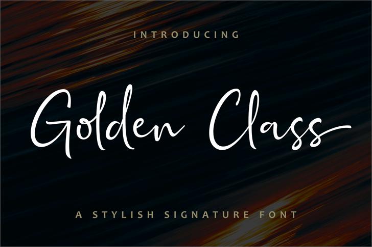 Golden Class Script Font screenshot