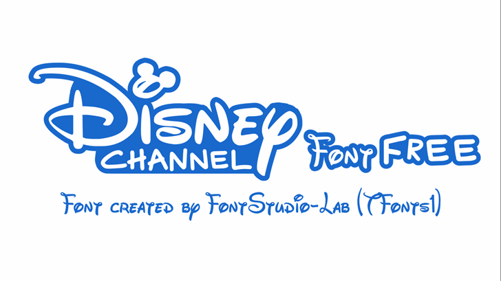 Disney Channel Font design typography