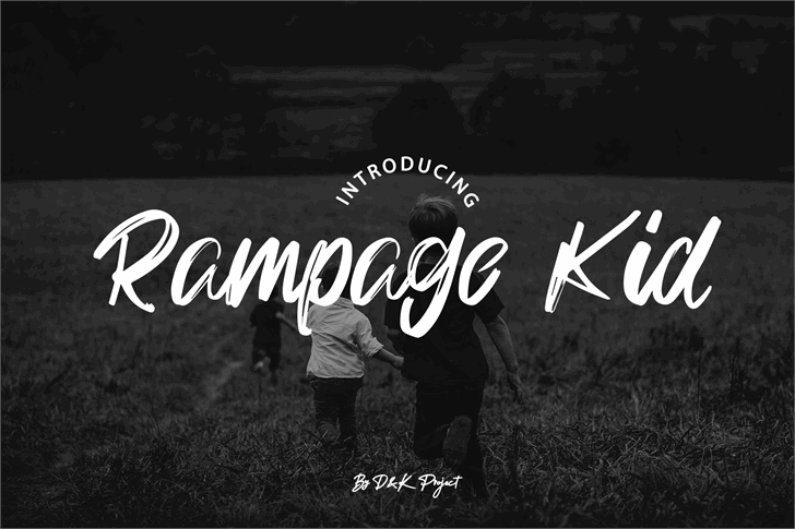 Rampage Kid Font text