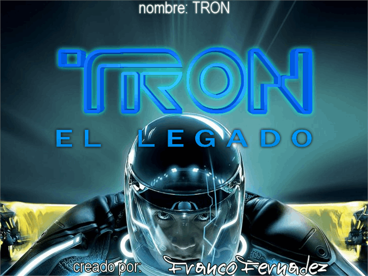 TRON font by FZ Fonts