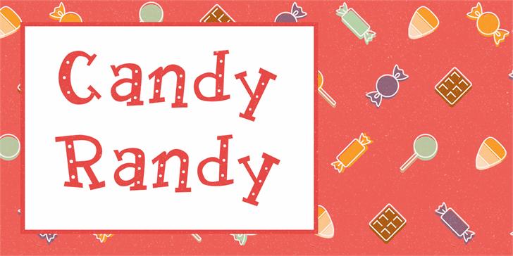 Candy Randy Font design illustration