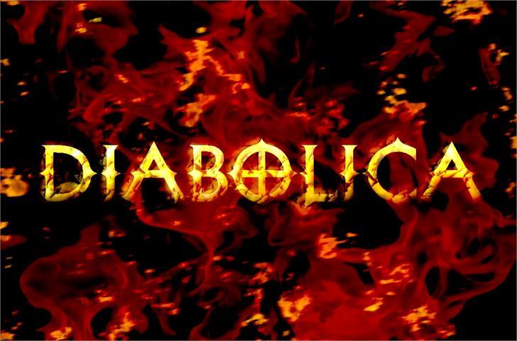 Diabolica Font candle lit