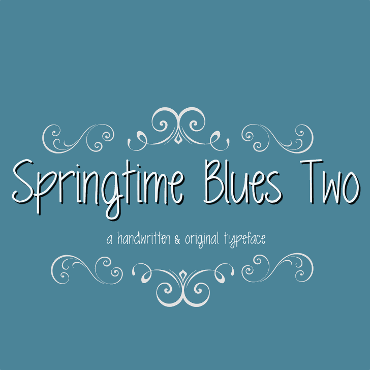 MRF Springtime Blues Two Font design text