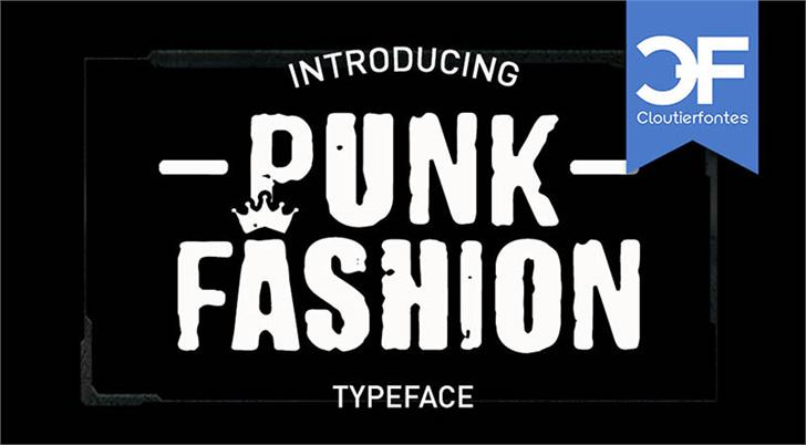CF Punk Fashion PERSONAL Font poster text