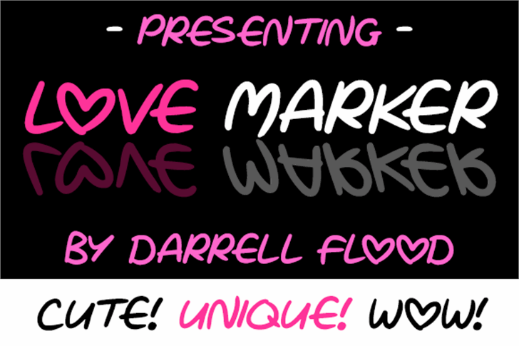 Love Marker font by Darrell Flood
