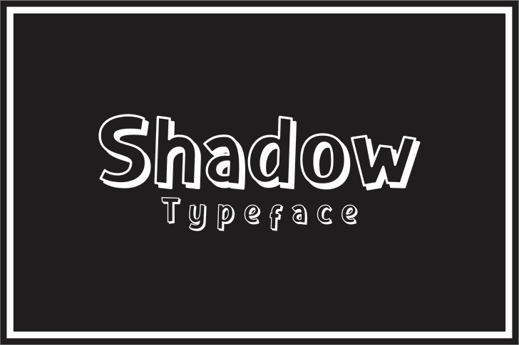Shadow Font text