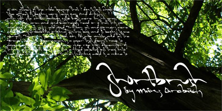 Shortbrush Font tree handwriting
