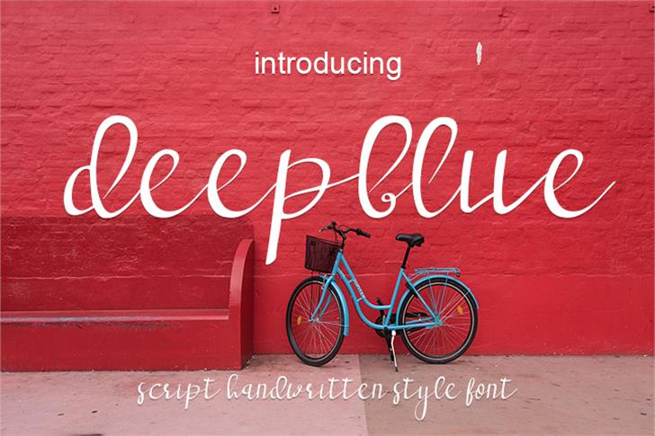 deep blue font by wonoayu79