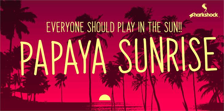Papaya Sunrise Font text book