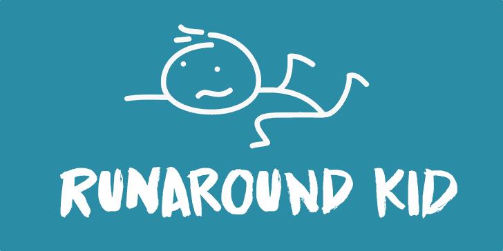 Runaround Kid DEMO Font cartoon design