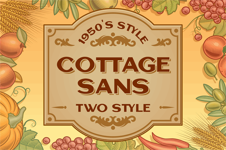 Cottage Sans Font cartoon poster