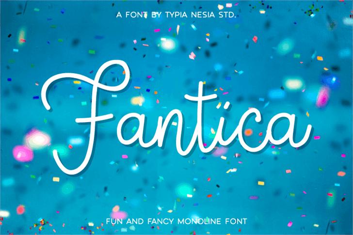 Fantica Demo font by Typia Nesia