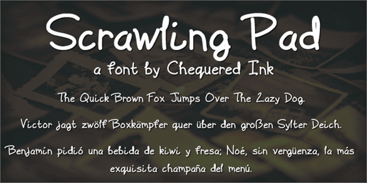 Scrawling Pad Font text screenshot