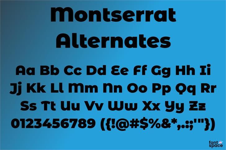 Montserrat Alternates Font poster