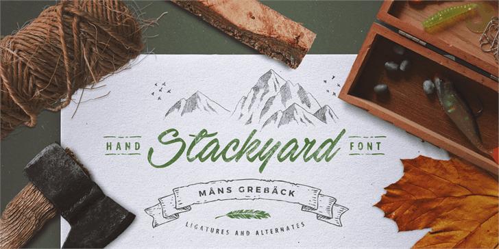 Stackyard PERSONAL USE Font handwriting drawing