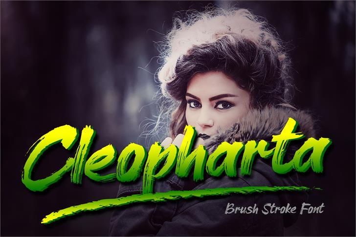 Cleopharta Font poster