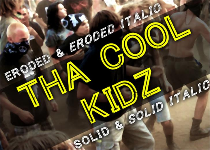 Tha Cool Kidz Font person screenshot