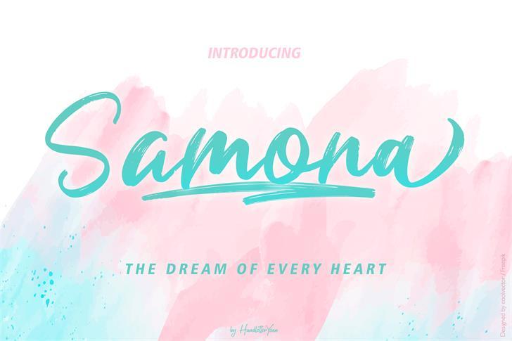 Samona Font poster