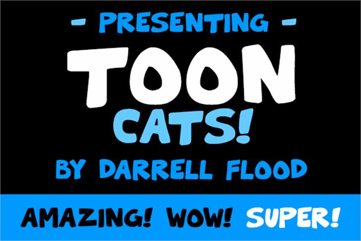 Toon Cats Font poster screenshot