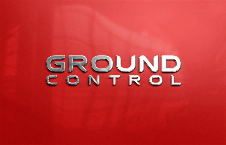 Ground Control Font red logo
