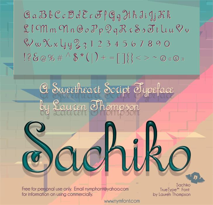 Sachiko font by Nymphont