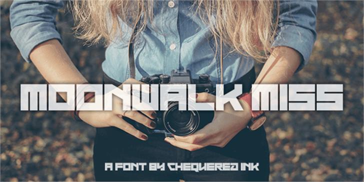Moonwalk Miss Font person camera