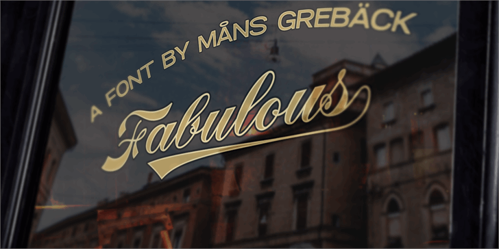 Fabulous PERSONAL USE font by Måns Grebäck