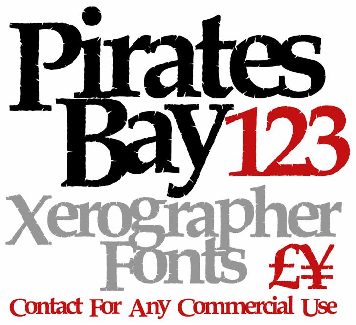 PiratesBay font by Xerographer Fonts