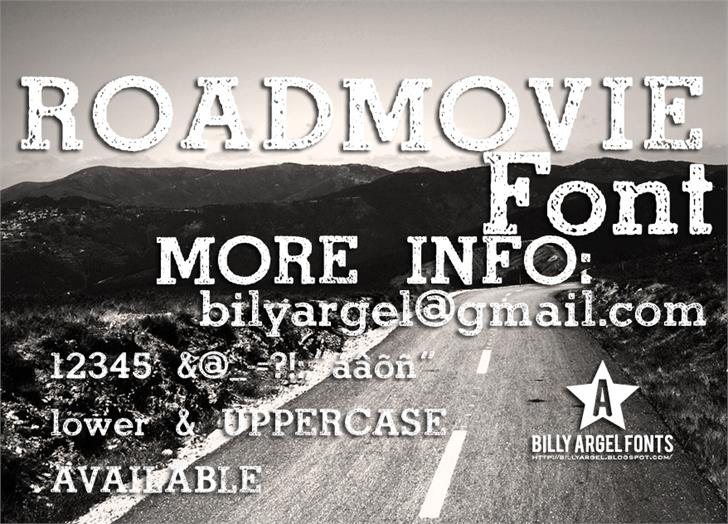 ROAD MOVIE Font text poster