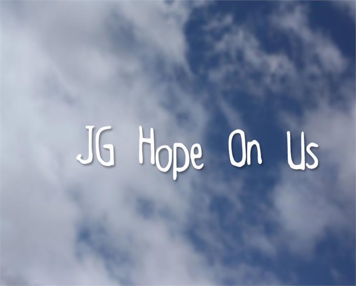 JGHopeOnUs font by Julia Guinto