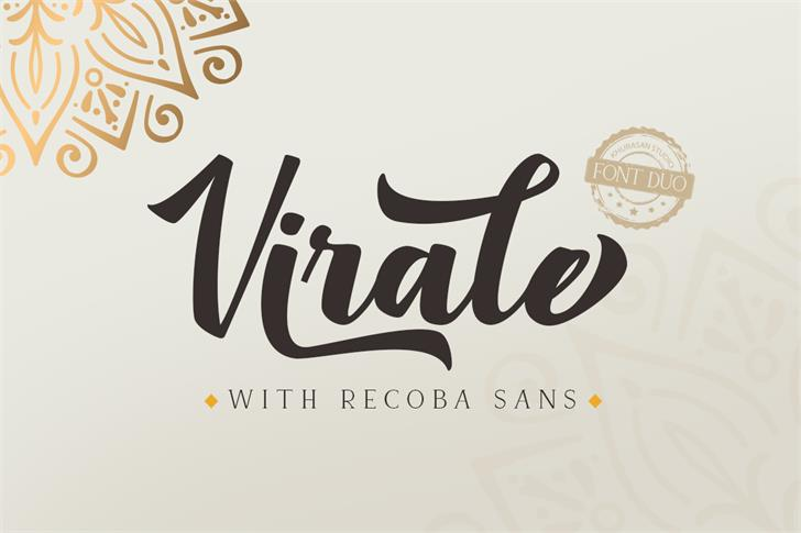Virale Font design typography