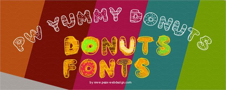 PWYummyDonuts Font design handwriting