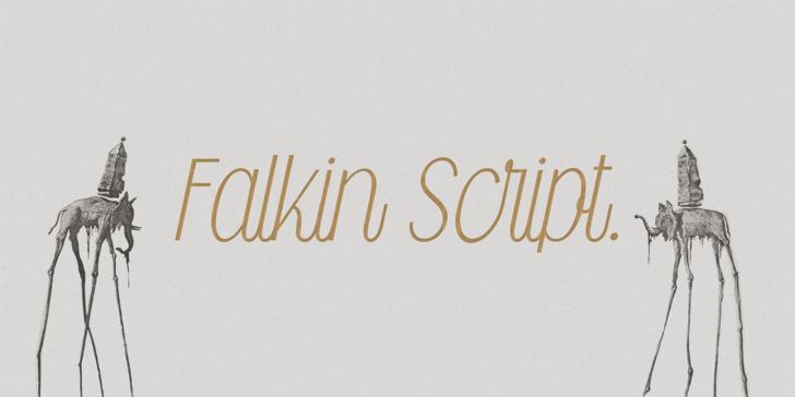 Falkin Script PERSONAL Font handwriting typography