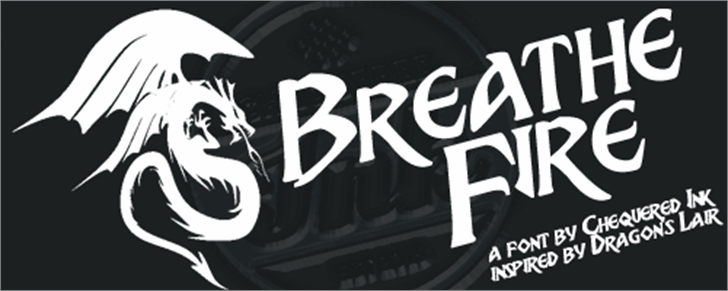 Breathe Fire Font design typography