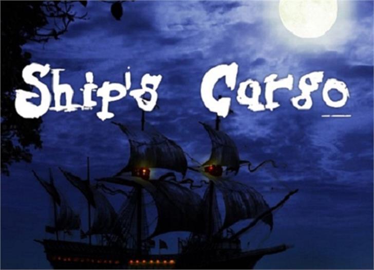 Ships Cargo Font moon cartoon