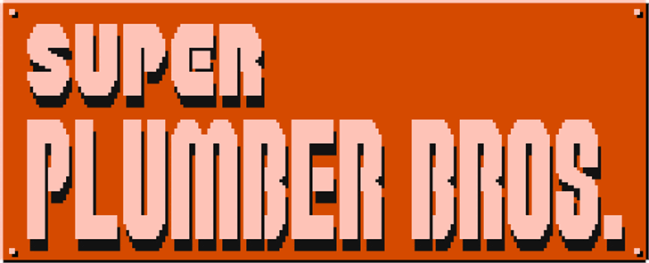 Super Plumber Brothers Font design graphic