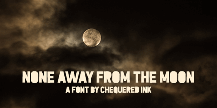 None Away from the Moon Font moon dark
