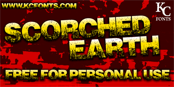 Scorched Earth Font poster screenshot